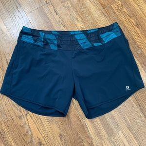Oiselle Roga navy lined shorts, 12